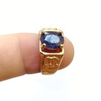Cincin Batu Permata Natural Blue Safir / Sapphire Facet Asli 04
