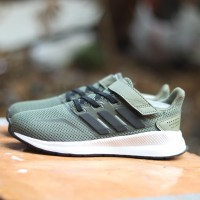 Sepatu Anak Original Adidas FalconRun army green