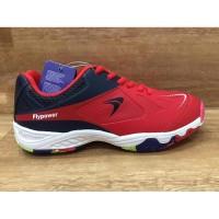Sepatu Badminton Flypower Fly power Losari 03 Merah Original