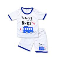 WakaKids Baju Anak Laki Laki Tangan Pendek Kaos School Bus 3057