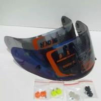 Flat visor irifium blue gold silver kyt rc7 kyt k2r kyt r10 kyt v2r md