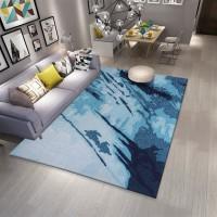 Karpet Handtuft Premium Wool Mewah Modern D009 LightBlue 160x230 cm