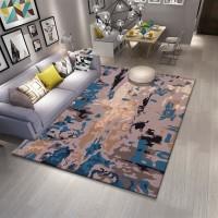 Karpet Handtuft Premium Wool Mewah Modern D016 GrayBlue 160x230 cm