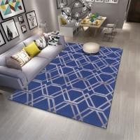 Karpet Handtuft Premium Wool Mewah Modern D013 Blue 160x230 cm