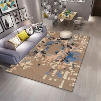 Karpet Handtuft Premium Wool Mewah Modern D004 Brown 160x230 cm