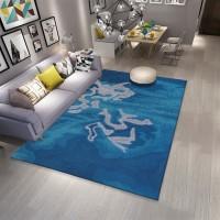 Karpet Handtuft Premium Wool Mewah Modern D027 Blue 160x230 cm