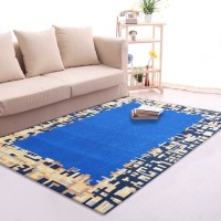 Karpet Handtuft Premium Wool Mewah Modern D014 Blue 160x230 cm