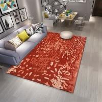 Karpet Handtuft Premium Wool Mewah Modern D005 Red 160x230 cm