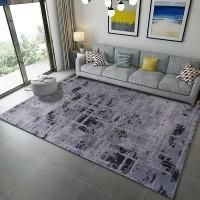 Karpet Handtuft Premium Wool Mewah Modern D011 Gray 200x300 cm