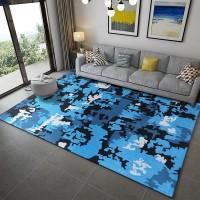Karpet Handtuft Premium Wool Mewah Modern D026 BlackBlue 160x230 cm