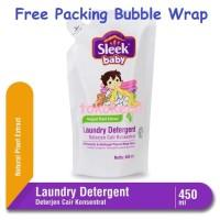 Sleek Baby Laundry Detergent Pouch 450ml sabun cuci baju bayi deterjen