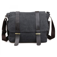 Tas Selempang Kanvas Pria Bodypack Bag | Men Sling Shoulder Bags - Hitam