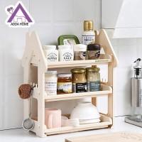 Rak Dapur 3 Susun Rak Kamar Mandi ATK Bentuk Rumah Portable Serbaguna