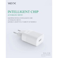 WEX WS21R Quick Charger Single USB 2.1A
