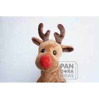 Raindeer Stand Christmas With Music 12 /Boneka Rusa Musik Edisi Natal