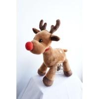 Raindeer Stand Christmas With Music 10 /Boneka Rusa Musik Edisi Natal