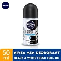 nivea men deodorant roll on invisible black & white FRESH 50 ml