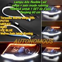 lampu led senja led alis DRL flexibel slim sein flowing lexus MOBIL