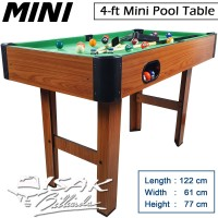 Mini Pool Table 4-ft MDF - Mainan Hadiah Anak Meja Biliar Billiard