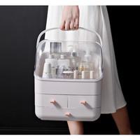 terbaru Portable cosmetic box Rak kosmetik Tempat penyimpanan kosmetik