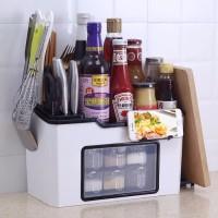 terbaru MK09 Multifunctional kitchen shelf Rak bumbu dapur serbaguna