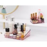 terbaru Rak kosmetik 2in1 Desktop storage clear acrylic Rak kosmetik