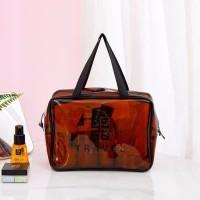 terbaru L785 Tas Kosmetik Transparan Korean beauty pouch Clear Washbag