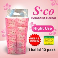 Pembalut Herbal SCO - Night Use 1 Bal isi 10 pack