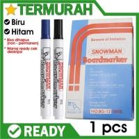 Spidol Whiteboard Snowman BG-12 Marker bisa dihapus