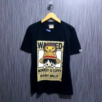 tshirt kaos bape one piece wanted premium