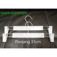 Hanger Jepit Plastik Impor Natural (31cm) Gantungan jepit serbaguna