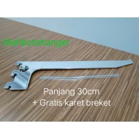 Bracket Kaca 30cm | Ambalan kaca | Daun breket kaca 30cm display