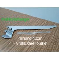 Bracket Kaca 40cm | Ambalan kaca | Daun breket kaca 40cm display