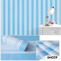 Garis Biru - Wallpaper Dinding 10 meter