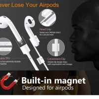 AIRPODS STRAP MAGNETIC WASHABLE ANTI LOST PREMIUM STRAPS FOR AIRPODS - Hitam