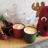 Gelas kaleng mug cangkir enamel 7cm souvenir unik festive