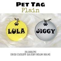 Terlaris Pet Tag - Bandul Nama Hewan - Liontin Nama (Kucing, Anjing,