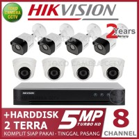 PAKET CCTV HIKVISION 5MP 8 CHANNEL HDD 2TB
