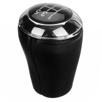 Premium 5-Speed PU Leather Car Gear Shift Knob Stick Shifter Head