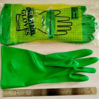 Sarung tangan karet superrr tebal hijau