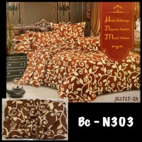 BED COVER King size sprei Motif Bunga BEDSHEET BAD COVER