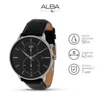Jam Tangan Pria Alba Prestige Quartz Leather AW4013 Original