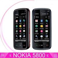 AF Nokia xpressmusic Smartphone WiFi GPS 5800 Warna Hitam & Biru /