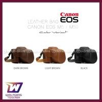 TERBARU Canon EOS M50 M5 Leather Bag Case Tas Kulit Kamera