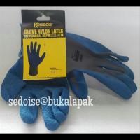 glove nylon latex krisbow - sarung tangan kerja