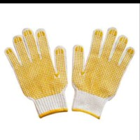 sarung tangan katun bintik bintik per lusin /DOTTED COTTON