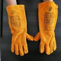 sarung tangan las kulit 16 inch golden touch welding safety GOSAV