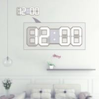 【】Jam Dinding: Jam Dinding Digital LED Besar Tampilan Waktu 12/24