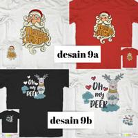 Kaos custom natal christmas xmas anak dewasa couple murah-03
