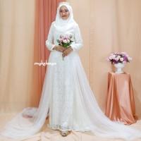 wedding dress rustic dress akad modern dress akad murah cantik